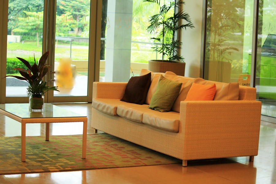 Stylish lounge.