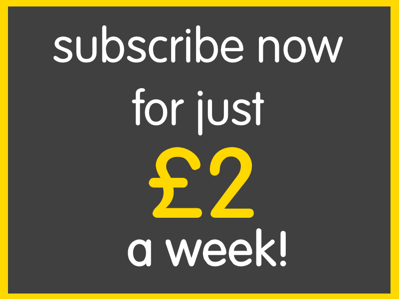 Subscribe for just £2 a week
