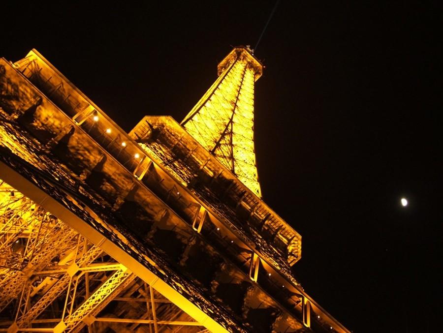 Eiffel Tower by night, Paris.