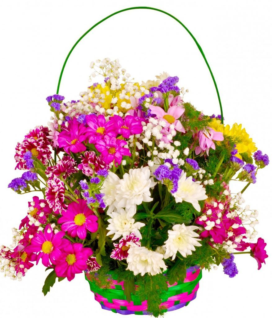 Basket of flowers.
