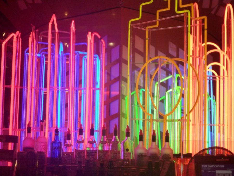 Neon lights.