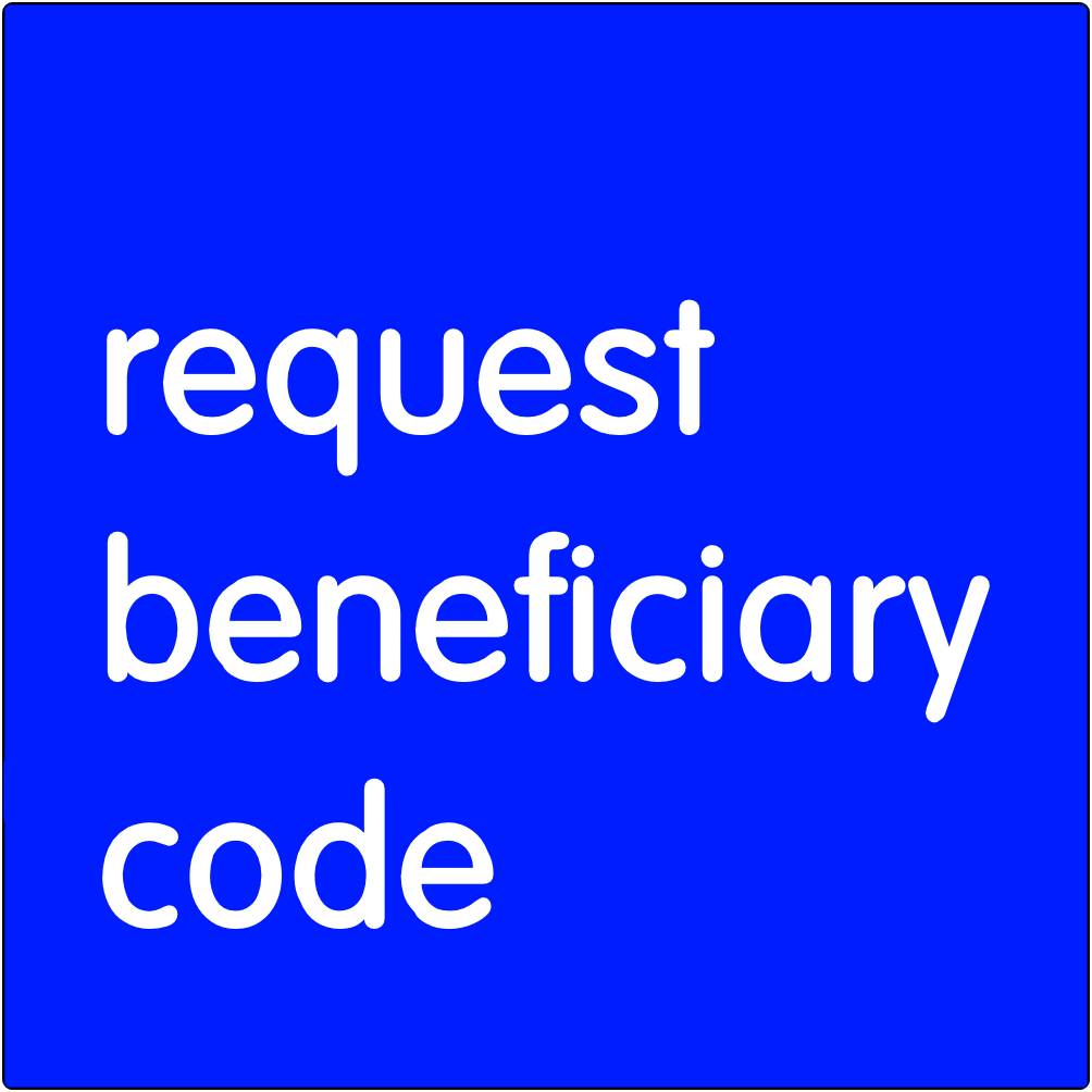 Request beneficiary code