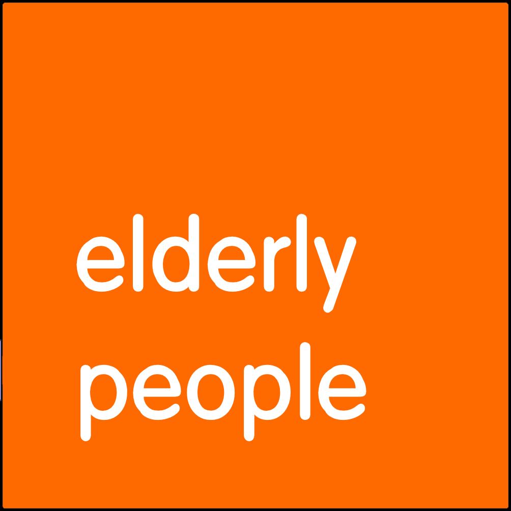 Elderly people.