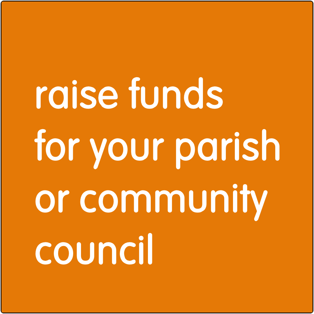 Raise funds for your parish or community council.