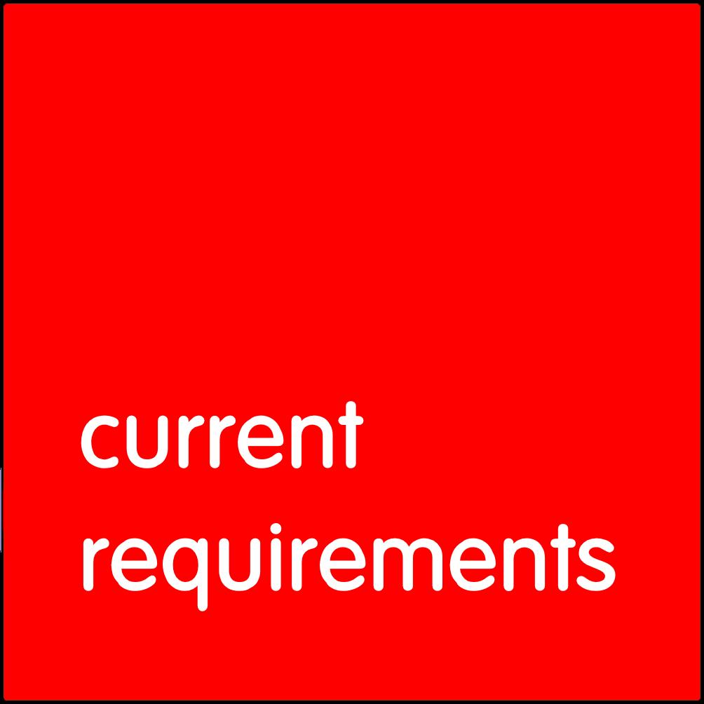 Current requirements.