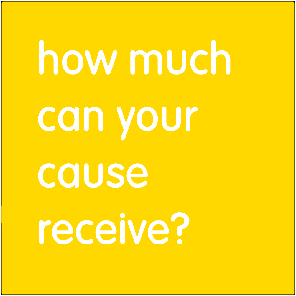 How much can your cause receive