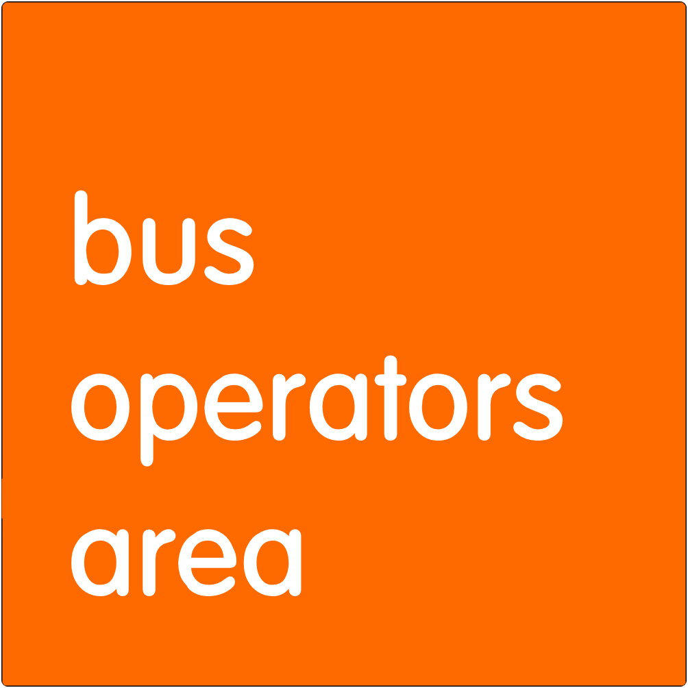 Bus operators area.