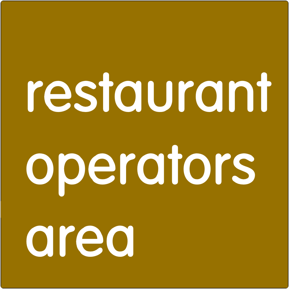 Restaurant operators area.