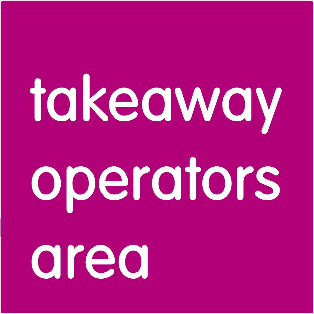 Takeaway operators area.