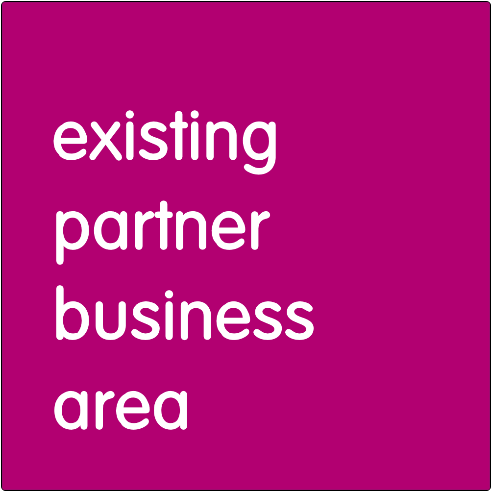 Existing partner businesses area.