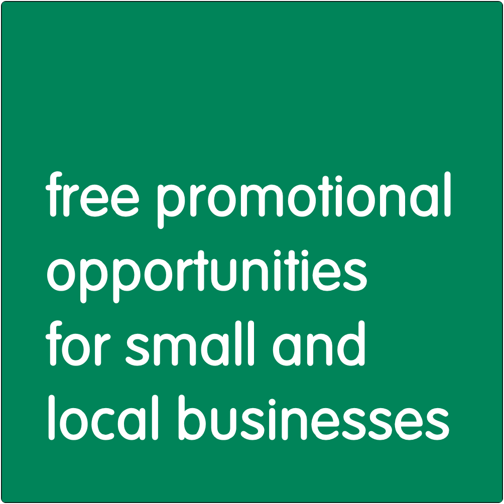Free promotional opportunities for small and local businesses.