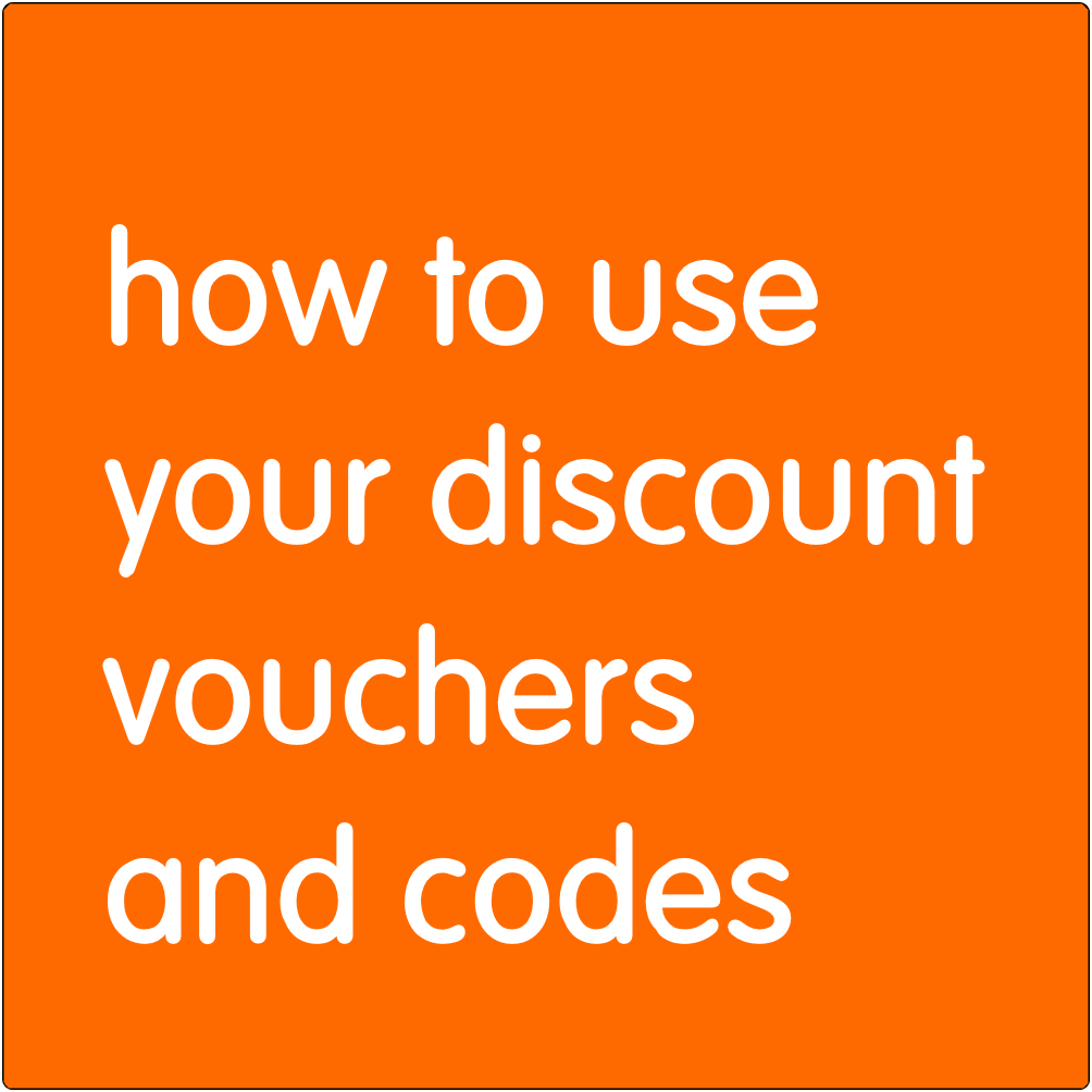 How to use your discount vouchers and codes.