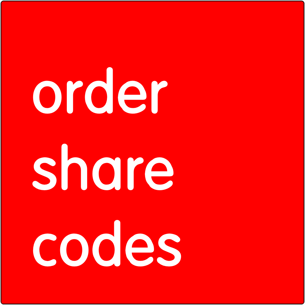 Order share codes.