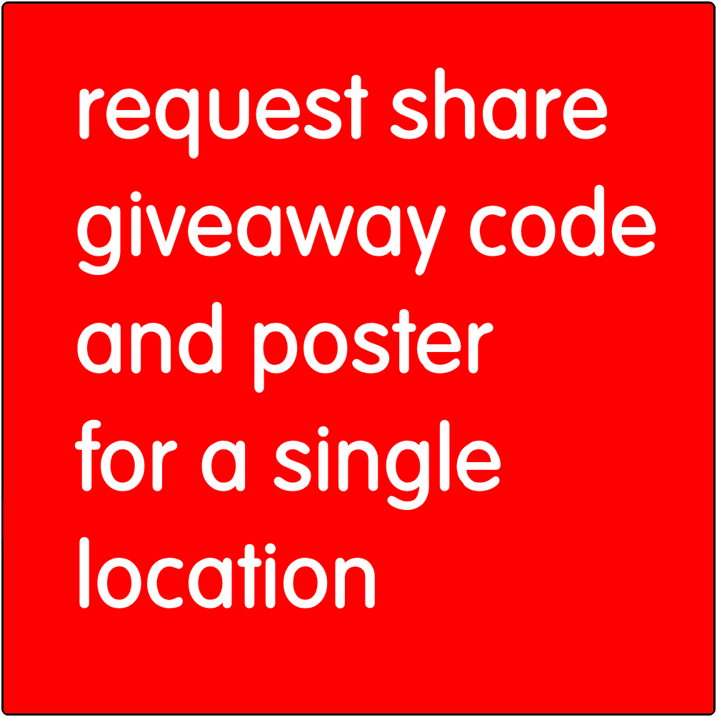 Request share giveaway code and pister for a single location.