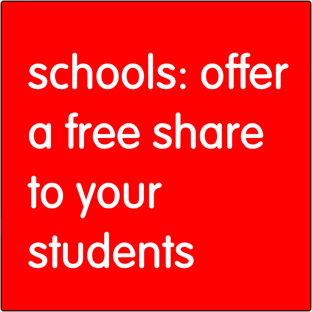 Schools: offer a free share code to your students.