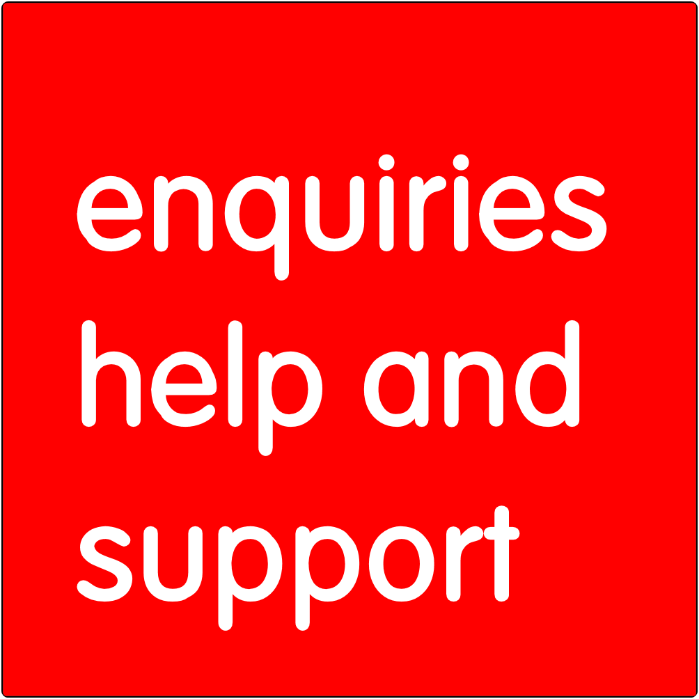 Enquiries, help, and support.
