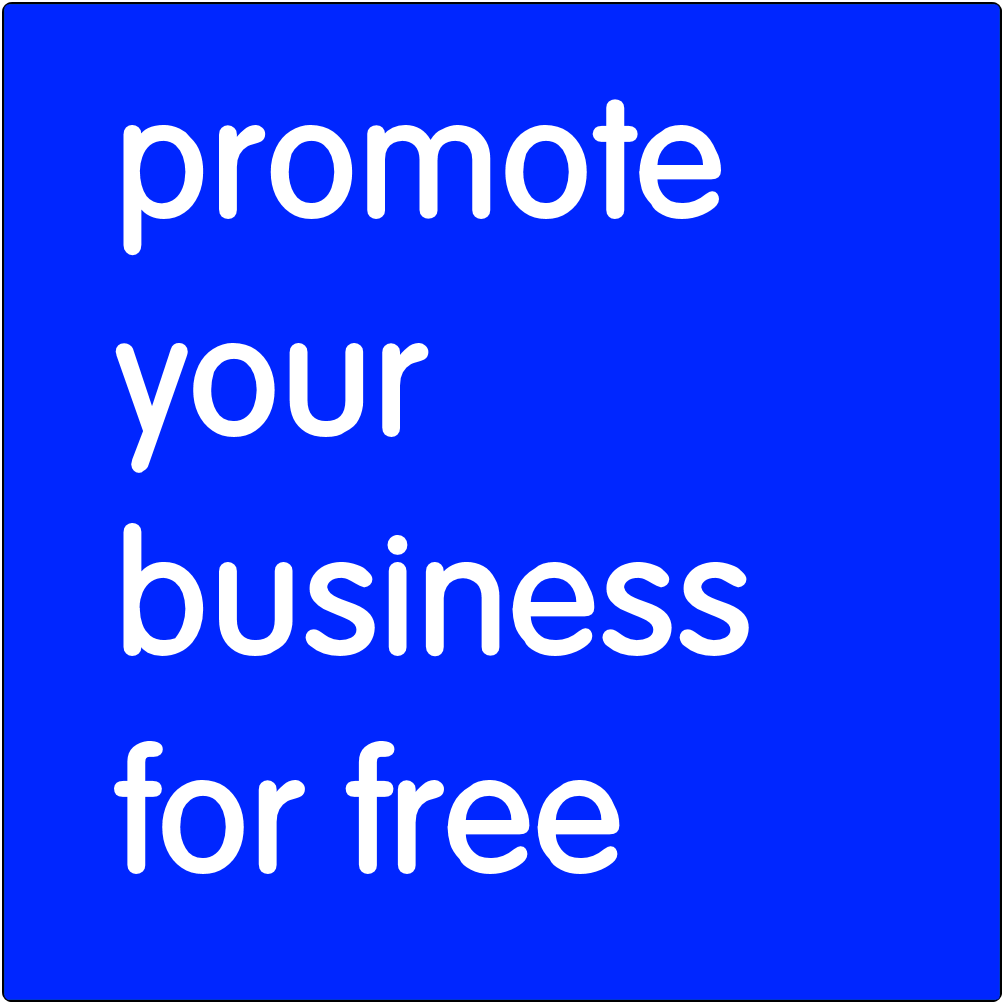 Promote your business for free.