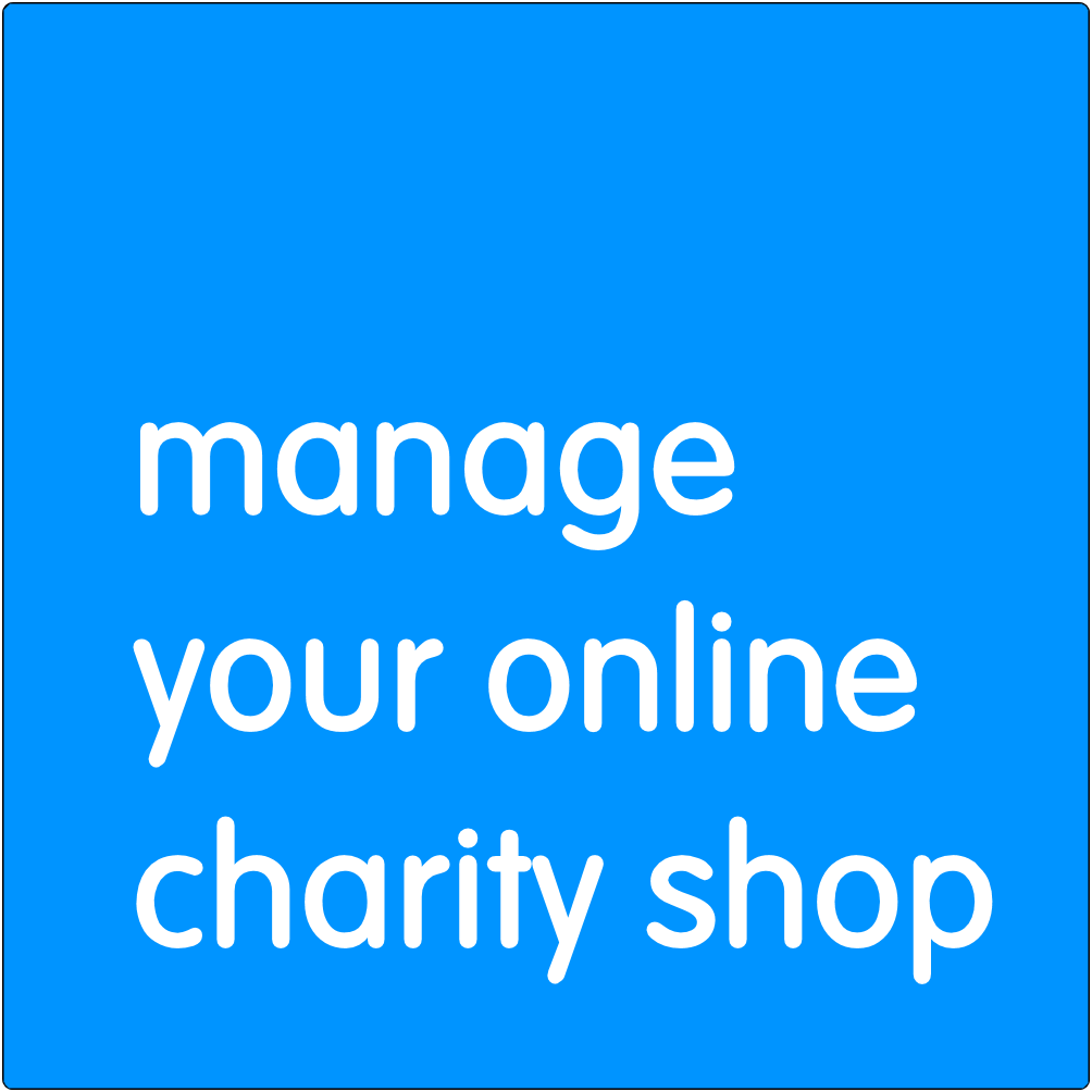 Manage your online charity shop.